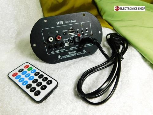 เครื่องเล่น MP3 พร้อมภาคขยายเสียงสำหรับติดตู้ลำโพง