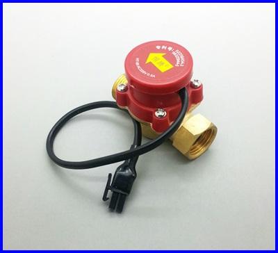 """โฟลว์สวิทช์ ตรวจจับการไหลผ่านของน้ำ Water pump flow switch 220V ขนาด 3/4 """"- G1/2"""" Cold & Hot Water 25mm - 20mm Circulation pump Flow Switch Booster Pump Flow Switch Valve"""