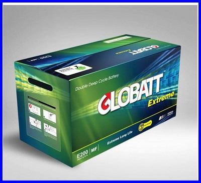 GLOBATT EXTREME PLUS แบตเตอรี่สำหรับเก็บพลังงานแสงอาทิตย์ ชนิด Deep Cycle Extreme จ่ายกระแสไฟ (CCA) GLOBATT EXTREME PLUS E1700 150AH