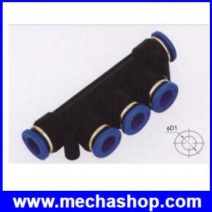 ขั้วต่อลม ข้อต่อลม อุปกรณ์ลม ฟิตติ้งลม SPW-4 SPW series union triple Pipe Tube Air Fitting Connecotor PK Union ขนาด 4mm to 4mm