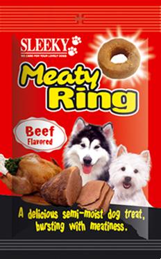 ขนมสุนัข SLEEKY มีทตี้ริง รสเนื้อ - ขนมหมาทุกสายพันธุ์