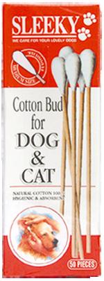 คอตตอนบัดหมาแมว SLEEKY สำหรับทำความสะอาดหูสุนัขและแมว ไซส์ M - 50 ก้าน