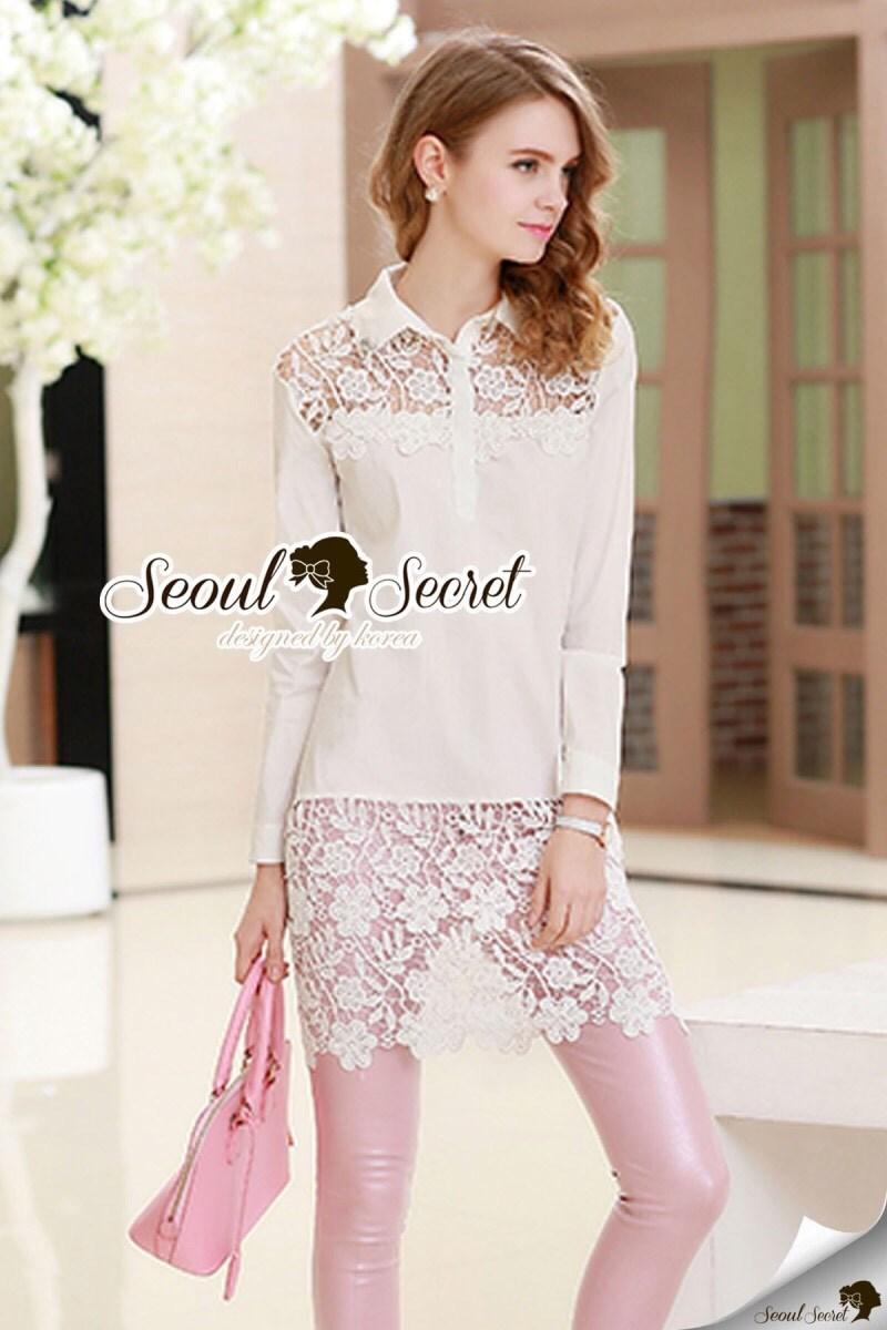 Ivora Lace Tail Shirt Dress
