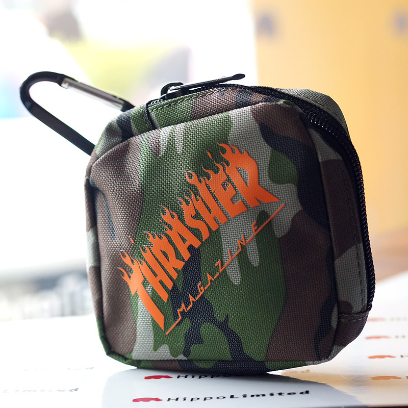 Thrasher Flame Coin Case - Camo