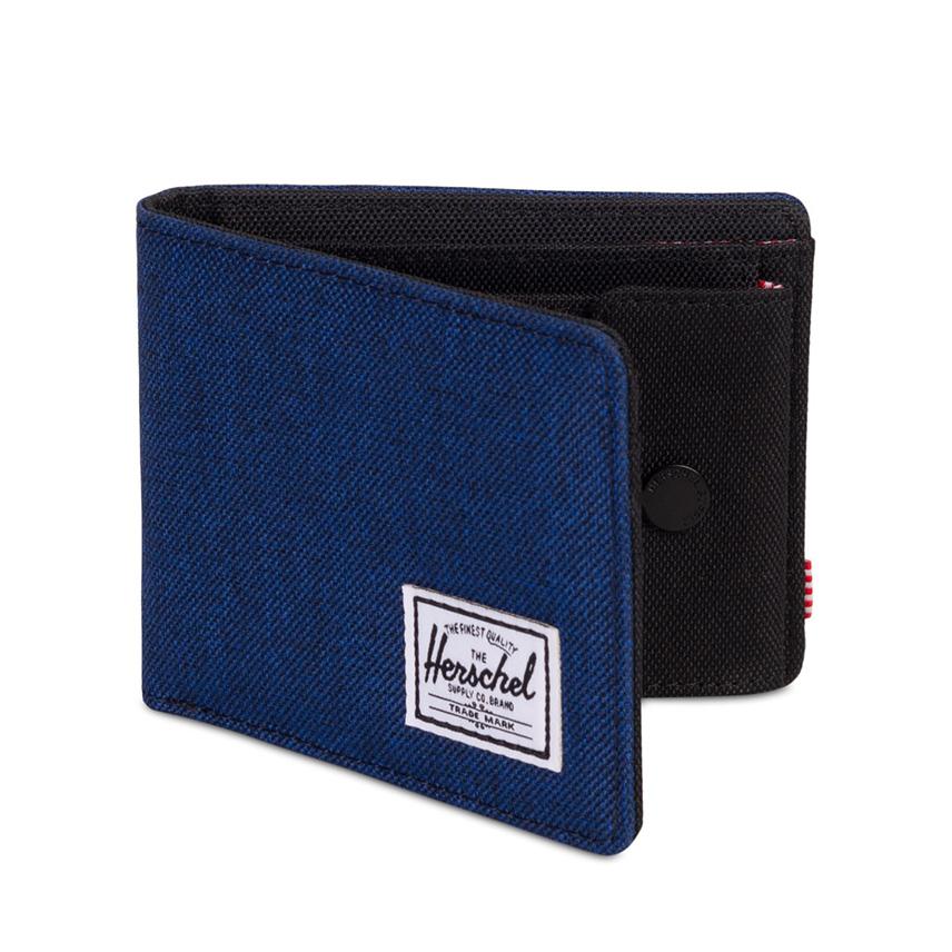 กระเป๋าสตางค์ Herschel Roy Wallet | Coin - Eclipse Crosshatch - ด้านข้าง