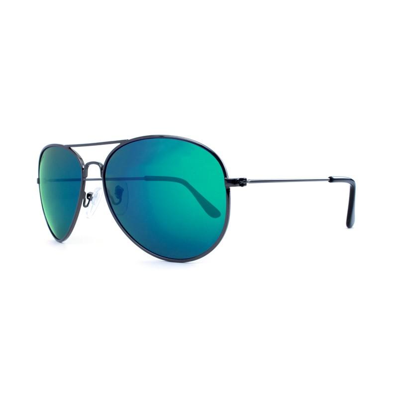 Knockaround Mile Highs Sunglasses - Gunmetal / Polarized Green Moonshine