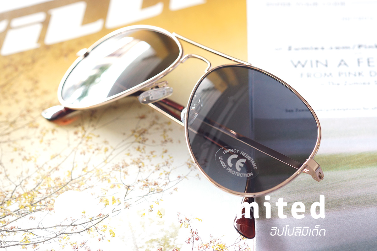 แว่น Vans Fly South Aviator Sunglasses - Gold