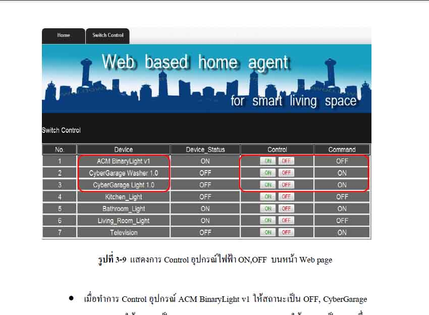 Web Based Home Agent for Smart Living