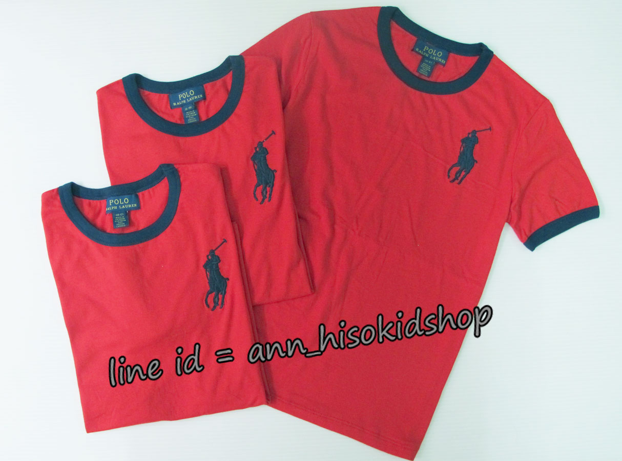 2009 Polo Ralph Lauren T-Shirt - Red ขนาด 6-8,8-10 ปี