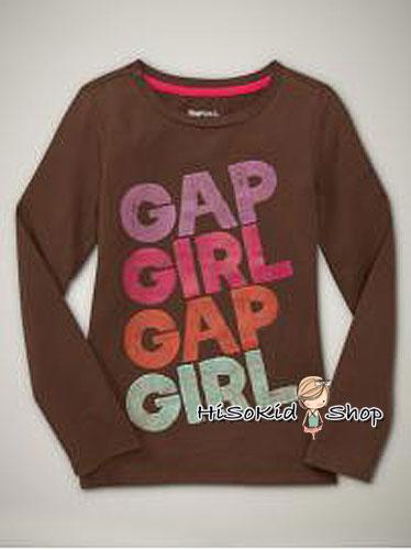 1270 Gap Kids Graphic Tee- Brown (สินค้าจริงแขนสั้นค่ะ) ขนาด 6-7 ปี
