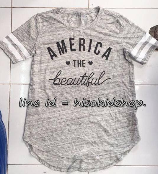 1784 Old navy T-Shirt -Grey ขนาด 5,6-7,8,10-12,16 ปี