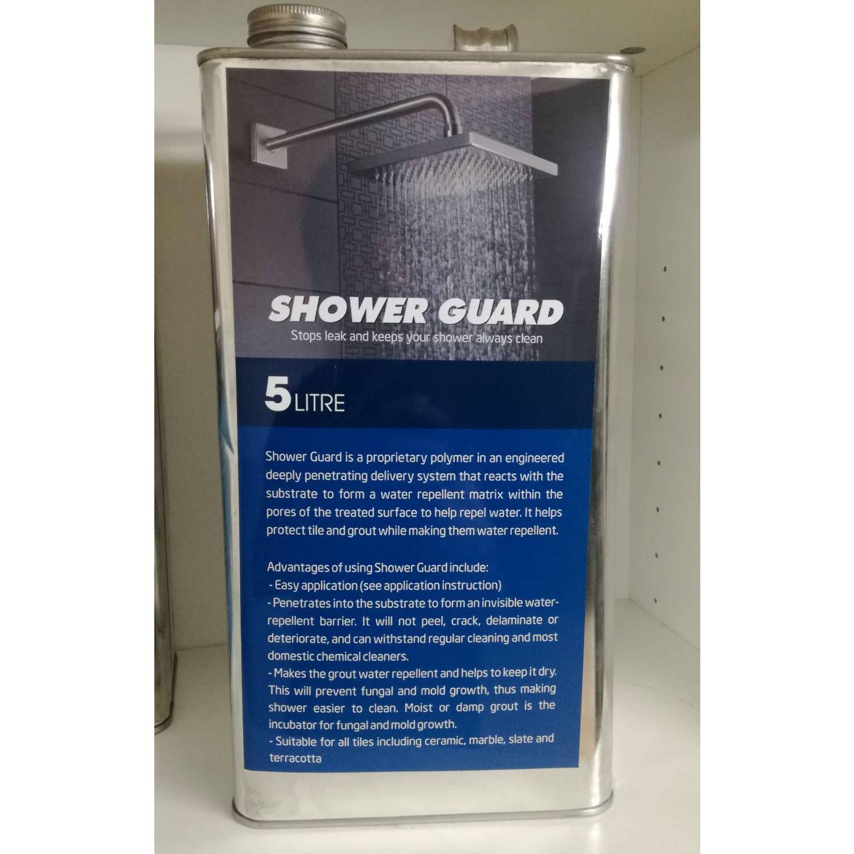น้ำยากันซึมชาวเวอร์การ์ด (SB) ขนาด 5 ลิตร สำหรับป้องกันและซ่อมห้องน้ำรั่วซึมโดยไม่ถอดรื้อกระเบื้อง