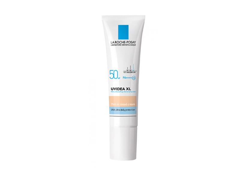 Laroche Posay UVIDEA XL MELT-IN TINTED CREAM SPF 50/PPD33/ PA++++ ลาโรซ โพเซย์ ยูวีเดีย เอ็กซ์แอล เมต อิน ติน ครีม เอสพีเอฟ50/ พีพีดี33/พีเอ++++ครีมกันแดดสำหรับผิวหน้า เนื้อครีมสีพอสเลน สูตรป้องกันการเกิดฝ้า กระ จุดด่างดำ