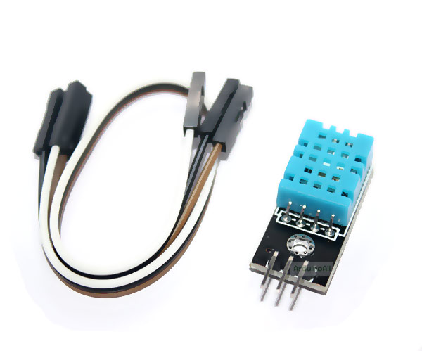 DHT11 Digital Temperature and Humidity Sensor DHT11 แบบ PCB พร้อมสายไฟ