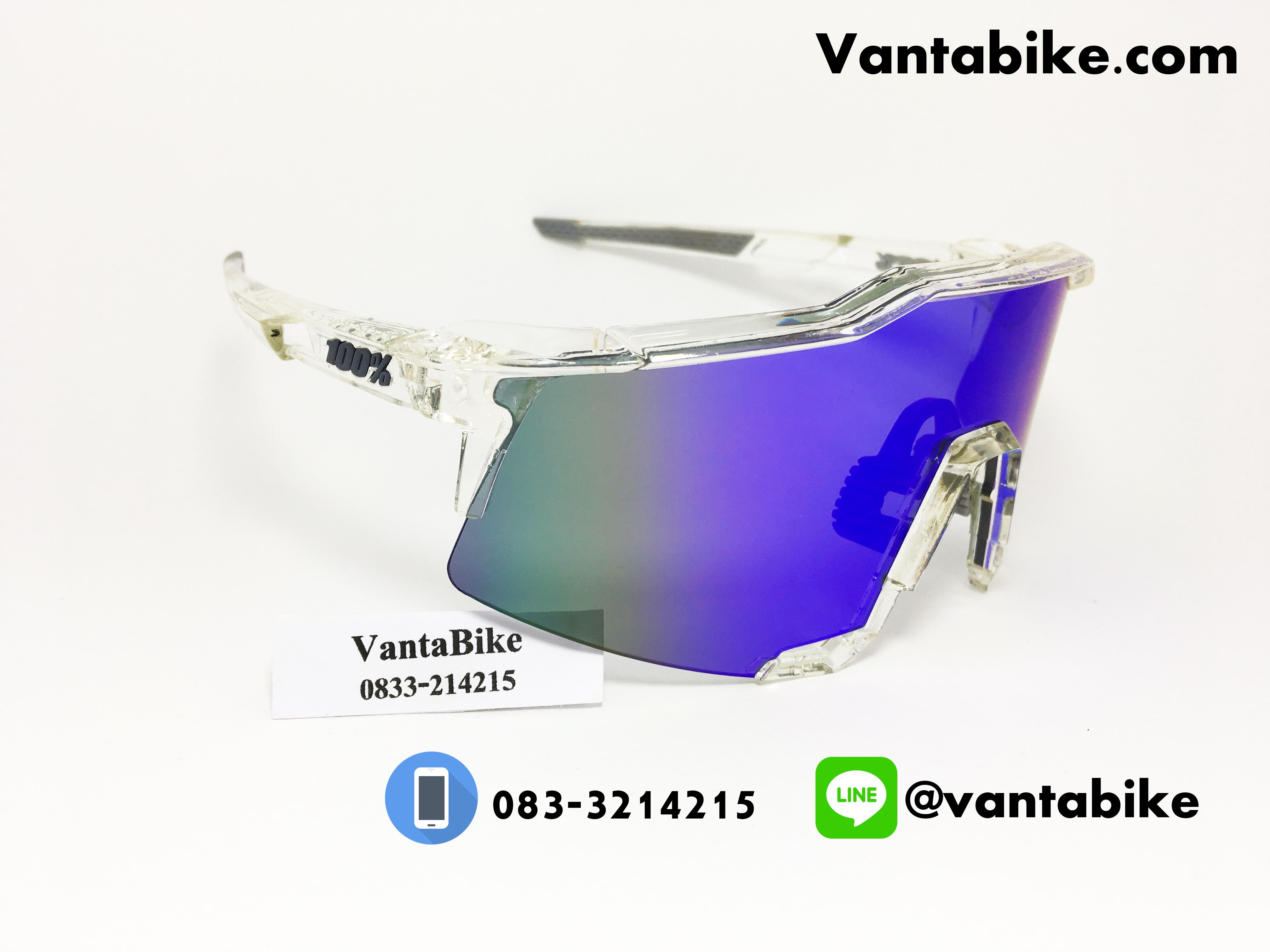 แว่นตาปั่นจักรยาน SPEEDCRAFT 100% [Clear White]
