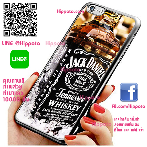 เคส ไอโฟน 6 / เคส ไอโฟน 6s ขวด Jack Daniels เท่ เคสสวย เคสโทรศัพท์ #1199