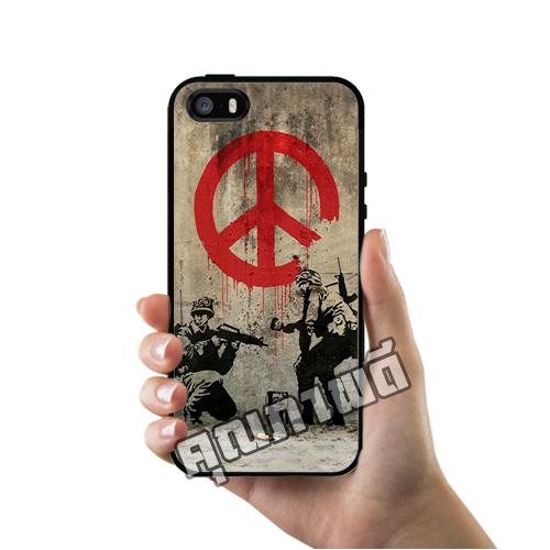 เคส iPhone 5 5s SE โลโก้ ภาพสตรีทอาร์ท ทหารสันติภาพ เคสสวย เคสโทรศัพท์ #1123