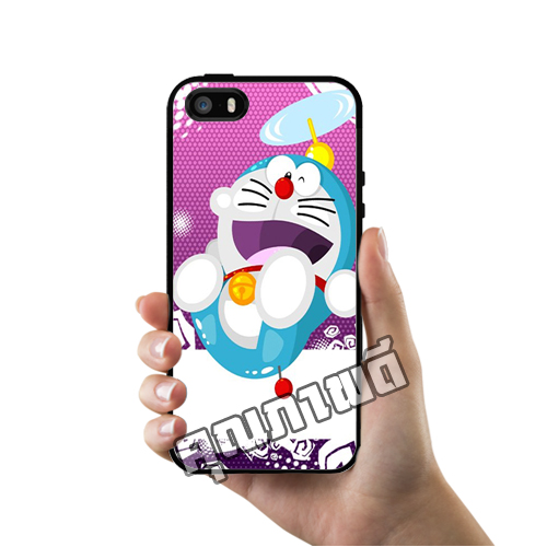 เคส ซัมซุง iPhone 5 5s SE โดเรม่อน สีม่วง เคสน่ารักๆ เคสโทรศัพท์ เคสมือถือ #1240