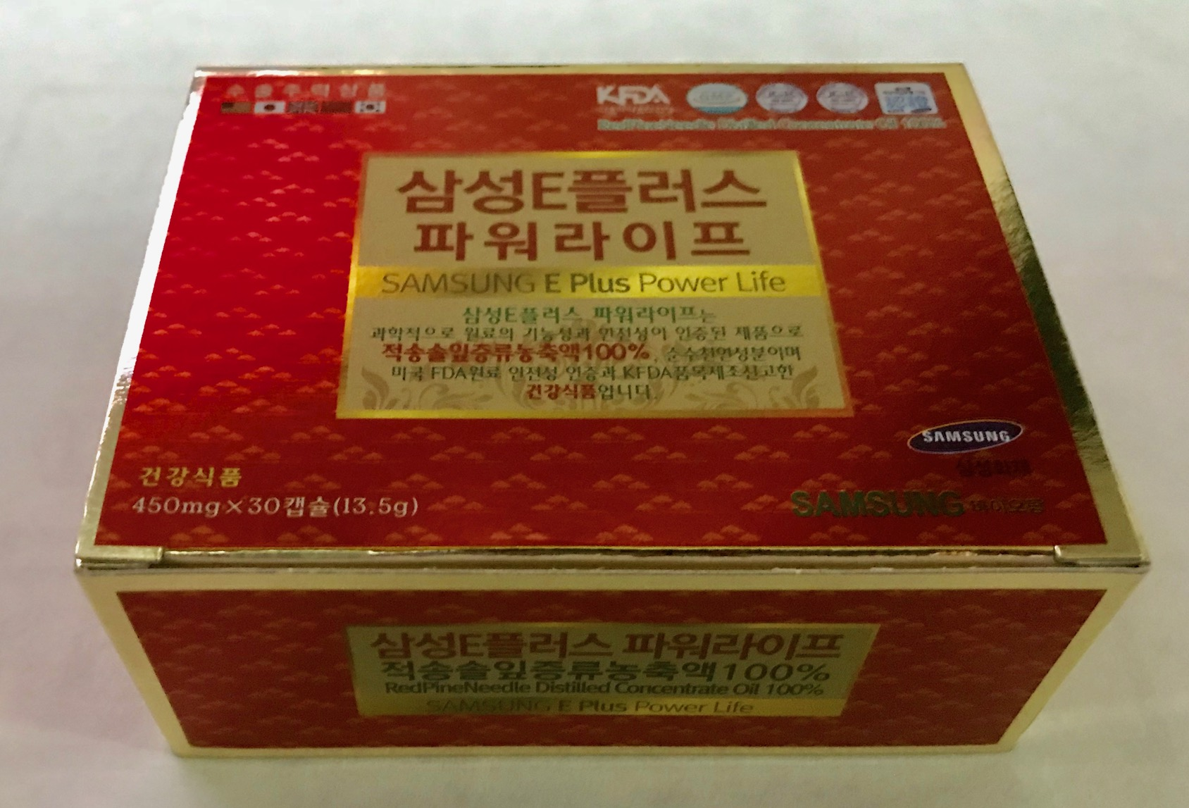 จ๊อก ซอง วอน น้ำมันสนเข็มแดง 1 กล่อง 30 เม็ด