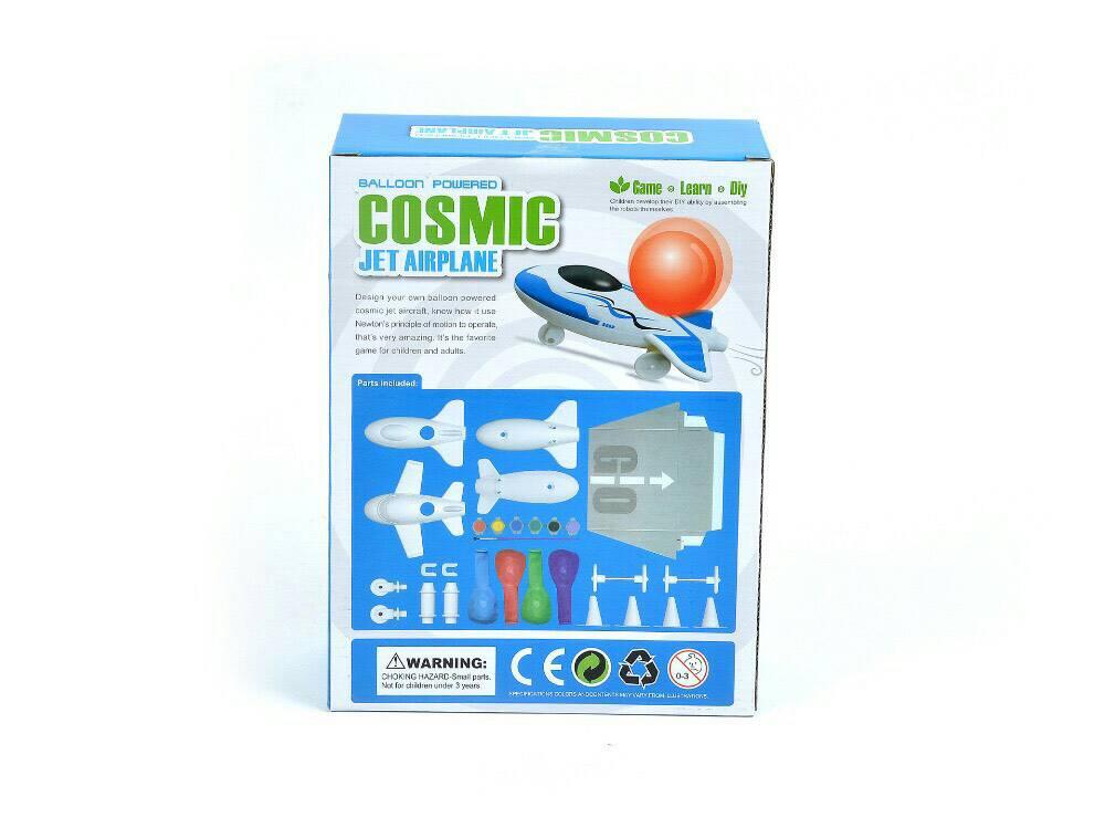 DIY Cosmic balloon power jet airplane เครื่องบินพลังลูกโป่ง