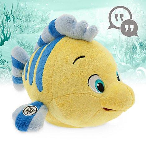 ตุ๊กตาพูดได้ ปลาน้อยฟลาวเดอร์ Disney Animators' Collection Interactive Flounder Plush - 10''