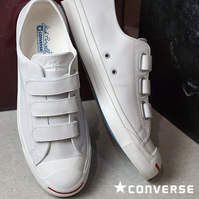 CONVERSE JACK PURCELL V-3 LEATHER - WHITE RED - Converse Japan ... 3e4b0c23e