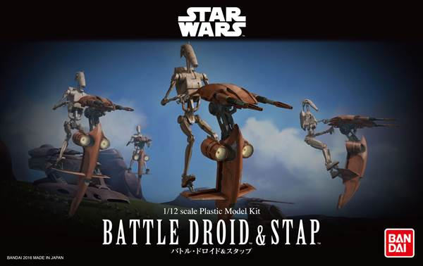 1/12 BATTLE DROID & STAP (Plastic model)