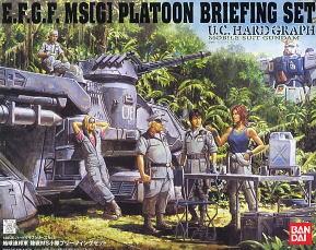 UCHG EARTH FEDERATION LAND MS BRIEFING SET (Gundam Model Kits)