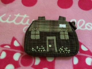 กระเป๋าผ้าญี่ปุ่นรูปบ้าน 6 x 4.5 นิ้ว