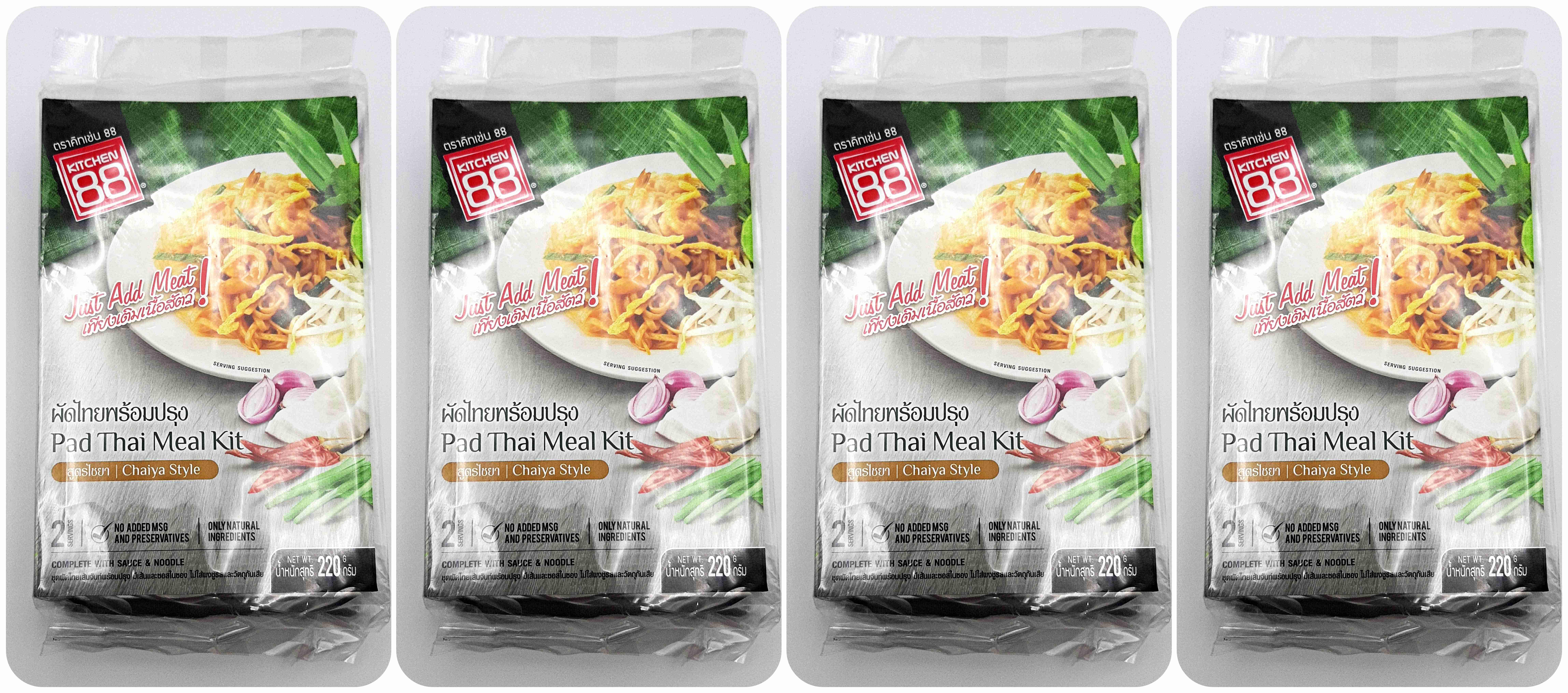 4 Packs Of Kitchen 88 Pad Thai Meal Kit 2 Servings Pack