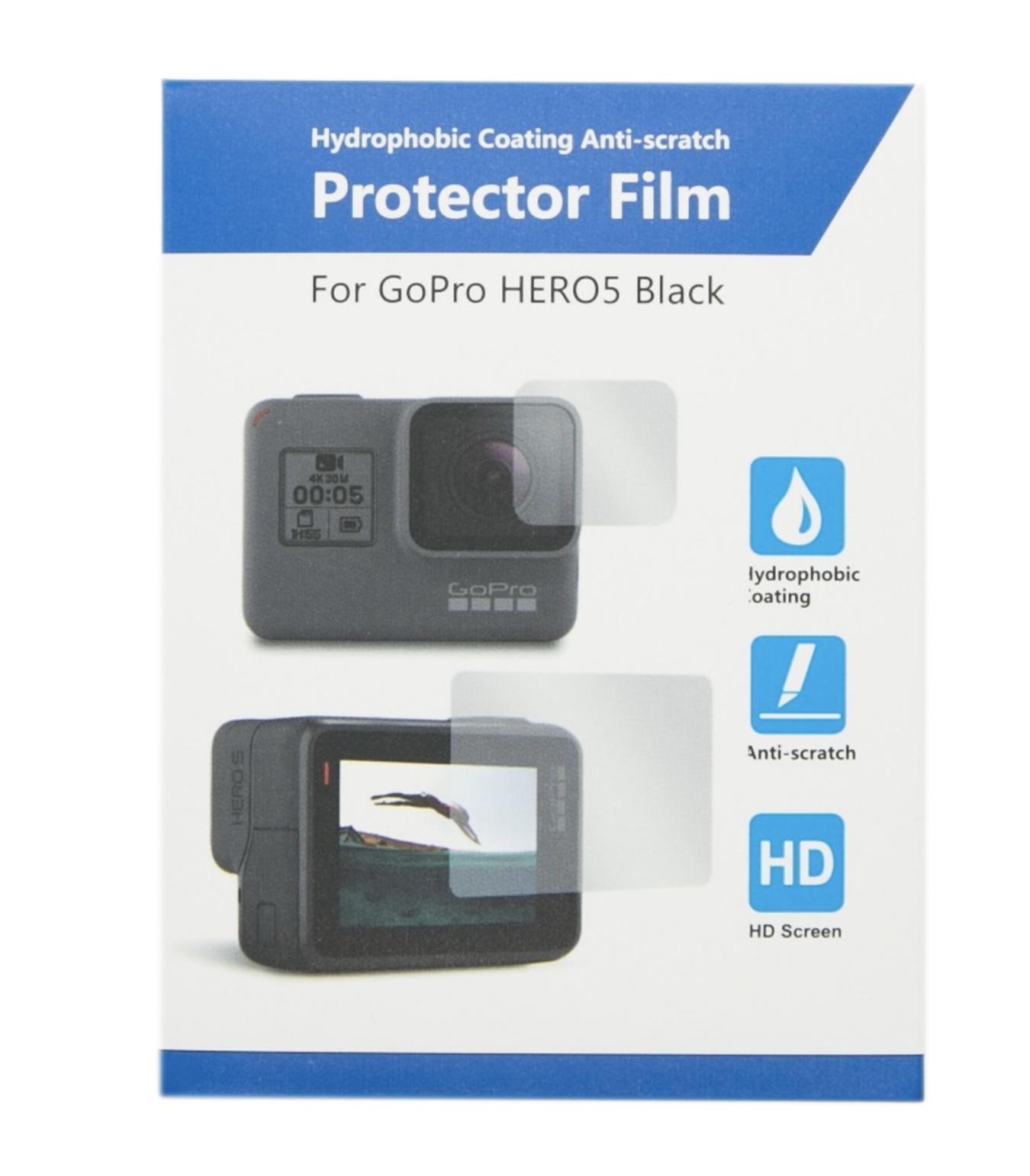 ฟิล์มกันน้ำเกาะ และ กันรอยเลนส์ housing กล้อง GoPro Hero 5 Black