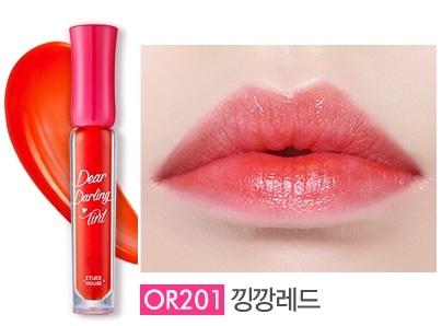 {พร้อมส่ง} Etude Dear Darling Water Gel Tint #สี OR201 tint สูตรใหม่ เป็นเนื้อเจล สีสวยสด ให้ริมฝีปากชุ่มชื่น