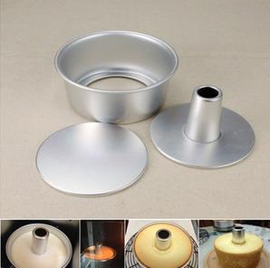 แม่พิมพ์เค้ก 6 นิ้ว ถอดก้นได้ ใส่ปล่องไฟได้ อลูมิเนียมหนา BAKE128