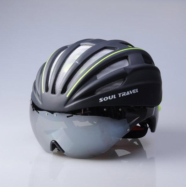 หมวกจักรยาน Soul Travel Helmets With Goggle lens ST-H1