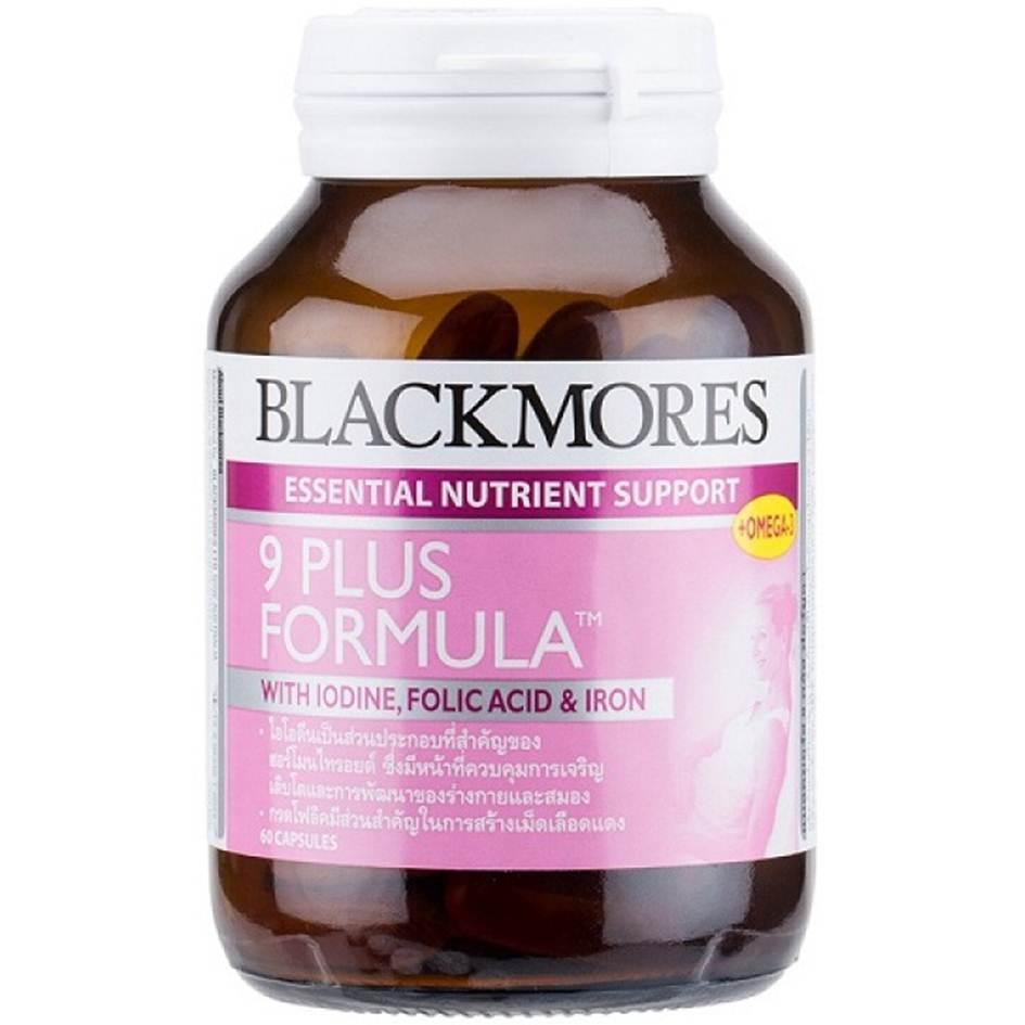 Blackmores 9 Plus Formula 60 เม็ด วิตามินบำรุงสำหรับคุณแม่ตั้งครรภ์ และคุณแม่ที่ให้นมบุตร