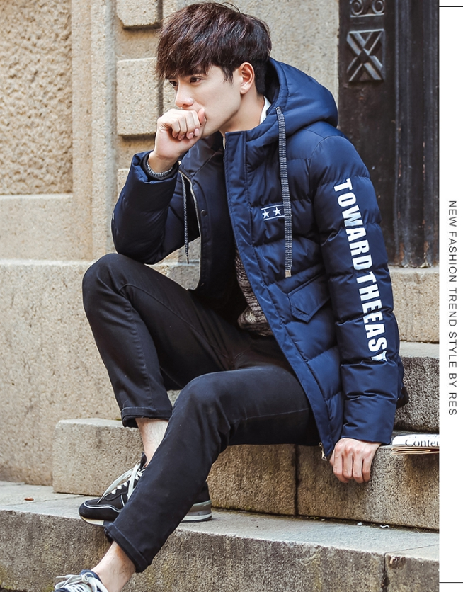 Trendy cotton winter jacket 2nd Edition (สีน้ำเงิน)