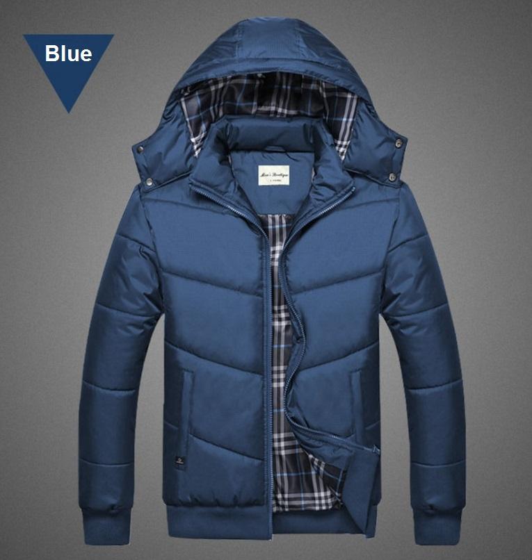 เสื้อกันหนาวคุณภาพดี High quality men's winter wear jacket (สีน้ำเงิน)