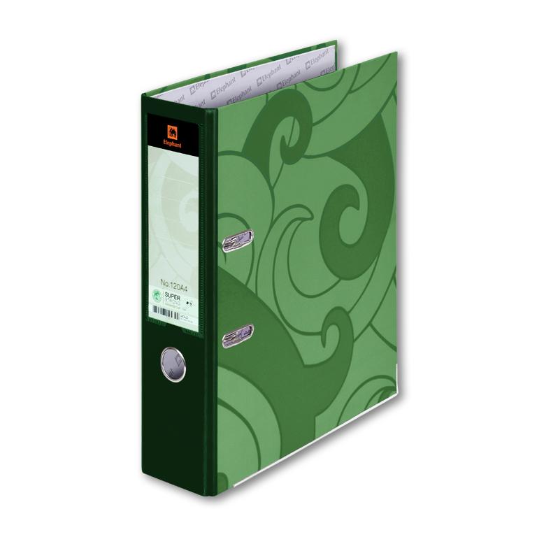 แฟ้มก้านยก ช้าง 120A4 สีเขียว