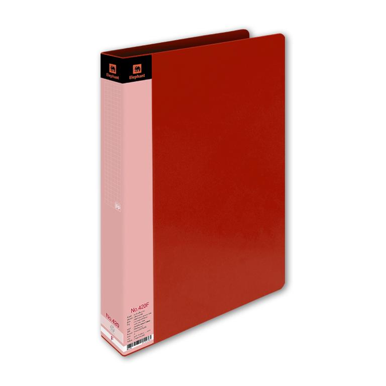 แฟ้ม2ห่วง ช้าง 420A4 สีแดง