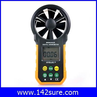 DWS018 เครื่องวัดความเร็วลม เครื่องวัดลม มิเตอร์วัดความเร็วลม MASTECH HYELEC MS6252A digital anemometer air speed air wind velocity air flow meter anemometer