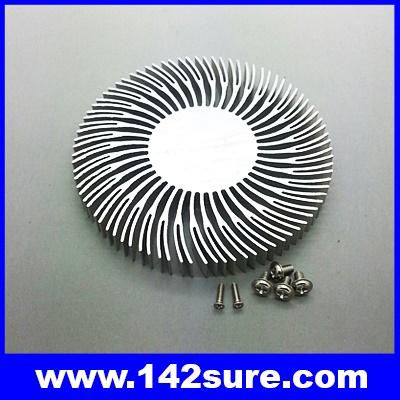 SIK002: ฮีทซิงค์ ระบายความร้อน หลอดไฟ LED อลูมิเนียมระบายความร้อน Round Aluminum Heatsink for 10W LED High Power Panel