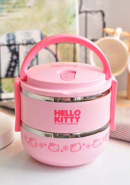 พร้อมส่ง :: ปิ่นโต Hello Kitty 2 ชั้น