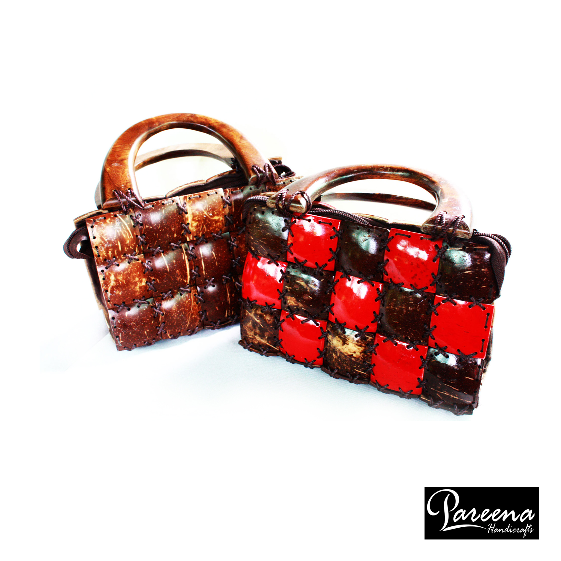 กระเป๋ากะลามะพร้าว Wooden Handbag