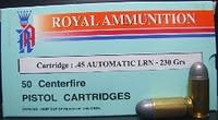 ลูกกระสุน 11มม.(.45) LRN Royal