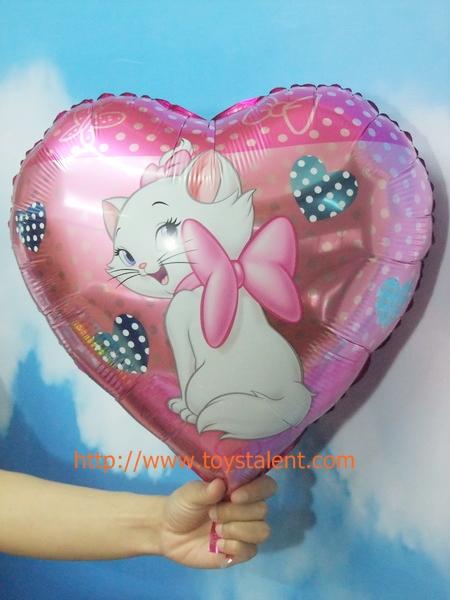 ลูกโป่งฟลอย์ทรงหัวใจ พิมพ์ลายการ์ตูน แมว Marie - Heart Shape Marie Cat Cartoon Foil Balloon / Item No. TL-B028