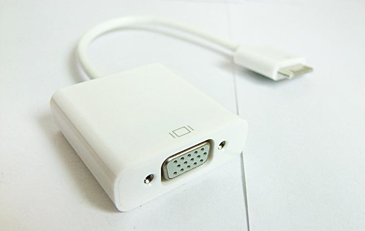อะเดปเตอร์ตัวแปลงสัญญาณ Ipad 2 3, IPhone 4/4s เป็น VGA - Digital 1080P 30pin to VGA Adapter Cables Dock Converter to VGA for apple iPad 2 3 iPhone 4 4S White