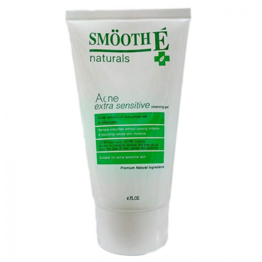 Smooth E Acne Extra Sensitive Cleansing Gel 4 oz