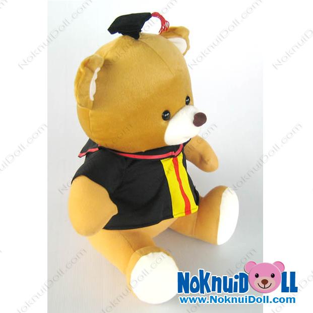 ตุ๊กตาแฟชั่น หมีนั่งปริญญา08 ใส่ชุดครุย สูง15นิ้ว