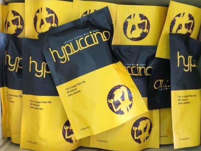 Hypuccino กาแฟไฮปูชิโน ลดน้ำหนัก กระชับสัดส่วน ราคาปลีก 150 บาท / ราคาส่ง 120 บาท