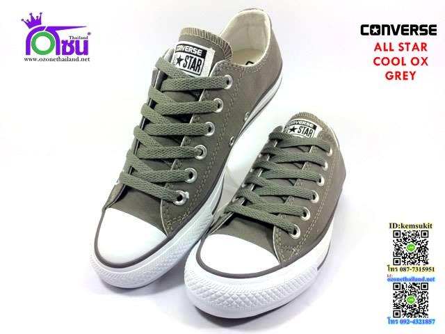 ผ้าใบ Converse All Star COOL oxGrey สี เทา เบอร์4-10